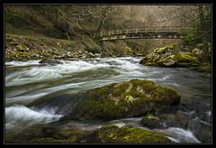 Rapid Crossing (RattyBoots) Tags: bridge canon nationalpark footbridge rapids devon 7d lynmouth exmoor canon1022