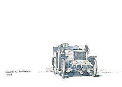 Rallye de l'Argonne, 2015 (gerard michel) Tags: auto sketch croquis ancêtre