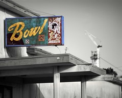 No Time to Spare (RZ68) Tags: new old bridge urban color tower abandoned sign vintage island for bay construction alley focus san francisco treasure bokeh crane bowl velvia health bowling sas provia selective rz67 e100