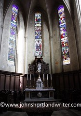 Lombez Cathedral, France (john shortland) Tags: france church architecture catholic cathedral roman stainedglass altar gers architecturalelement lombez