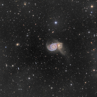 The Whirlpool Galaxy and Integrated Flux Nebula