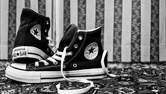 """""""Shoes Are Boring. Wear Sneakers (steparphotography) Tags: italy torino monocromo shoes italia bn sneakers wear boring converse turin allstar biancoenero bleakwhite"""