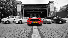 Selective coloring..... often I don't like it (Edwin van Tilburg - Oss - Netherlands) Tags: blackandwhite ford car coloring mustang product selective eventphotography edwinvantilburg