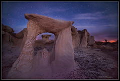 The Gate to Alien City (Huibo Hou) Tags: new blue night mexico photography long exposure dream valley hour bisti