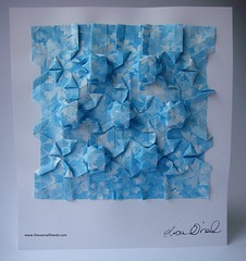 DSC01541 (thesesmallhands) Tags: sculpture paperart origami handmade arts homemade tessellation paperfolding