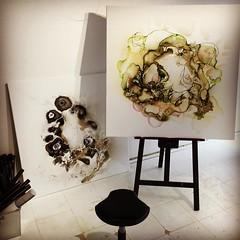 Cleaning and making the studio ready for exhibition saturday. It looks so emty now  www.rikkedarling.dk #artstudio #artgallery #gallery #art #artwork #artinprogress #copenhagen #denmark #artistrikkedarling #abstractart #abstractartist #studio #gree (Rikke Darling) Tags: abstract painting square kunst moderne squareformat darling hefe abstrakt maleri salg farverigt iphoneography instagramapp uploaded:by=instagram