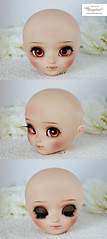 Face up for Pullip (Mikiyochii) Tags: doll dolls mio groove pullip custom fashiondoll pullips tanned repaint faceup