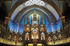 Notre Dame interior (Explore) (Sharkshock) Tags: light canada color church beautiful nikon christ cathedral god montreal glory interior basilica jesus notredame holy nave nikkor