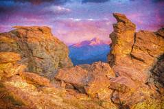 Last Light on Longs Peak (William Horton Photography) Tags: road mountain colorado ridge national park longs schist rockcut national rocky peaksunseteveningmagentagolden hourtrail