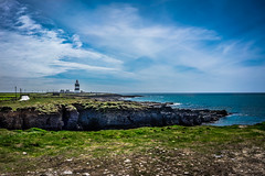 Hook Head (Ailís Ní hÉgeartaigh) Tags: world blue ireland sea sky cliff seascape green nature water beautiful rock zeiss landscape outside scenery europe skies outdoor earth sony scenic bluesky cliffs shore blueskies za wexford 2016