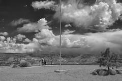 Distant storm clouds over Santa Fe (Tomoius) Tags: street sky bw usa newmexico weird candid documentary straight kashakatuwetentrocksnationalmonument fujinonxf1855mmf284 tomaspetkus fujifilmxpro2