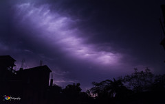 Only one thing that you can see and hear that is beautiful and frightening at the same time, and that is a thunder storm. (ChanraKana) Tags: lightning thander nikon d5200 1855mm nightsky nature bangladesh barguna