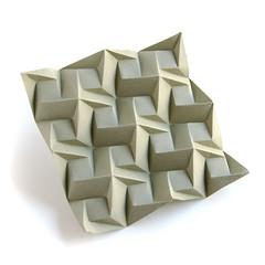 #origami #tessellation Squares-1-C-Iso (_Ekaterina) Tags: brown paper origami tessellation paperfolding corrugation tant ekaterinalukasheva