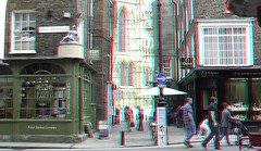 YORK 3D (wim hoppenbrouwers) Tags: york city town 3d cathedral yorkshire anaglyph stereo minster highpetergate redcyan york3d