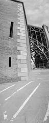 Fort Point and Golden Gate Bridge (leshapiro) Tags: panorama blackandwhite film fortpoint noblex goldengate