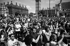 March for Europe, London, 2nd July 2016 (fabiolug) Tags: street leica uk people blackandwhite bw signs color london monochrome westminster sign march blackwhite europe candid politics voigtlander rally streetphotography eu parliament bigben rangefinder wideangle parliamentsquare monochrom remain biancoenero 25mm skopar londonist parliamentsq leicam voigtlander25mmf4 25mmcolorskopar voigtlander25mm voigtlander25mmf4colorskopar mmonochrom leicammonochrom leicamonochrom voigtlander25mmcolorskoparf4 brexit marchforeurope nobrexit article50