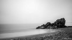 White Rock Killiney 29Jul16 1 (Helen Mulvey) Tags: whiterock killiney dublin ireland seascape sea coast beach longexposure landscape outdoor nikon d5100 black white monochrome