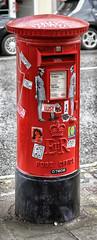 D7606 Pillarbox (Rockman of Zymurgy) Tags: letterbox mail postbox pillar pillarbox twiggy upfest bristol 2016 southville streetart street art artist spray paint fineart d7606 pasteup sticker