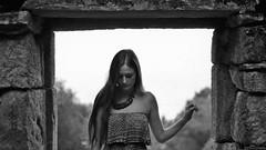 187/366: old ways won't open new doors (Andrea  Alonso) Tags: me selfportrait autorretrato 366 365 vigo galicia blancoynegro blackandwhite bw hair woman portrait