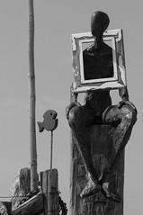 Ein Bild von einem Mann (Snke Pieper) Tags: deutschland campingplatz norddeutschland niedersachsen spiekeroog bilderrahmen ostfriesischeinseln hanneshelmke wattkieker