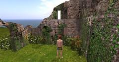 20160630 - PatrickUnicorn_24_001 (Patrick Unicorn) Tags: boy exploring mysterious ancient ruins walls flowers sea