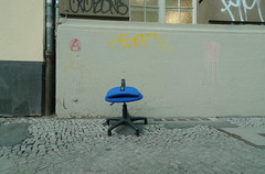 Please take a seat #335 (sterreich_ungern) Tags: blue berlin abandoned facade lost office chair grafitti decay seat lips collection bro stuhl 44 fassade blaue lippen sammlung