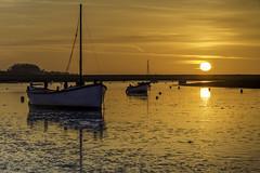BURNHAM SUNSET (Sharon- Jayne) Tags: sunset orange reflection boats norfolk burnhamoverystaithe