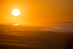Sunrise4-19-15 (jerseyjoe9) Tags: ocean orange beach sunrise haze waves april robertmosesstatepark canonef100400mmf4556lisusm 41915 canon6d field5 josephcurreri jerseyjoe9