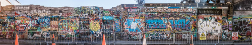 VERY LARGE PHOTOGRAPH OF WHAT IS LEFT OF THE U2 GRAFFITI WALL AT WINDMILL LANE REF-103775