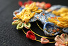 fish head details (Alkato) Tags: handmade handicrafts kanzashi hairaccessory chirimen