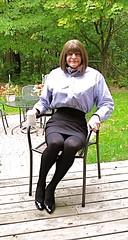Garden photos 3 (donnacd) Tags: scarf tv cd bra tights skirt crossdressing dressing tgirl sissy tranny heels crossdresser crossdress ts feminization domin travesti feminized xdresser transgenre tgurl
