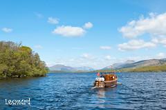 A Beautiful Day (Leonard Thomson) Tags: sky mountain water ferry scotland boat margaret benlomond lochlomond munro inchcailloch balamaha
