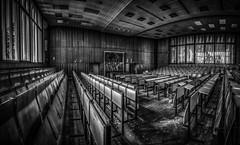 old college ... (MK - Fotografie) Tags: urban blackandwhite dusty abandoned decay explorer sw monochrom urbex lostplace schwarzweis mkfotografie