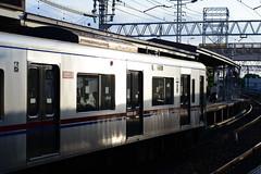 Time to Shine (H.H. Mahal Alysheba) Tags: station train tokyo nikon nikkor afs keisei d800 85mmf18