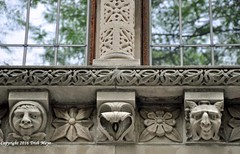 Happy Faces (Trish Mayo) Tags: windows architecture reflections faces stonework brooklynheights carving carvedinstone decorativedetails thebestofday gnneniyisi