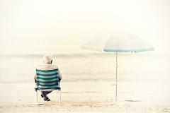 """Me and myself ""(repost) (Ilargia64) Tags: sea me myself landscape happiness oldman calm highkey emptiness retirement amayasanchez oldmanonachair"