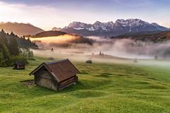 Good Morning Bavaria (Achim Thomae) Tags: germany landscape bayern bavaria alpen landschaft sonnenaufgang karwendel 2016 thomae achimthomae geroldsee