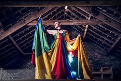 The Whispers of Spring (Sleepy Robot Photography) Tags: blue colour green beautiful fashion yellow wales model nikon pretty dress stunning striking parachute strobes iamnikon