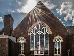 Anamosa United Methodist Church (Jan Crites) Tags: windows church nikon iowa sunbeams stainedglasswindows photoproject d610 anamosa smalltownmidwest jancritesphotography anamosaunitedmethodistchurch