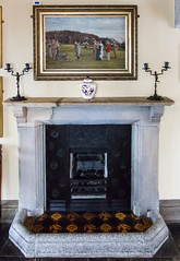 SCE_7294 (staneastwood) Tags: painting tile fireplace cornwall room stonework wroughtiron picture hearth marble nationaltrust candlestick stmichaelsmount marazion staneastwood stanleyeastwood
