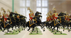 Mounted officers, in full dress uniforms, horses rearing - Musee de l'Armee, Paris (Monceau) Tags: horses paris dress military parade mounted uniforms toysoldiers officers musedelarme tinsoldiers modelsoldiers 164366 14thesecretlifeoftoys 116picturesin2016