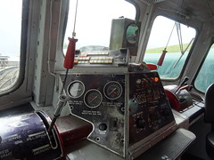 At GM 146's Controls (nathanlawrence785) Tags: county b irish baby train ir gm diesel cab group traction rail railway loco down class controls and locomotive horn ie 141 dials levers 146 itg emd eireann cie metres iarnrod downparick dcdr