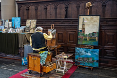 The Artist (Bob C Images) Tags: people artist painters art portraits amsterdam netherlands paintings