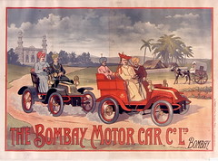 1904. The Bombay motor car C 1td Bombay (foot-passenger) Tags: poster   1904 bombay bnf gallica  franais
