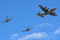 Paris, July 14, 2016 : French Air Force EC725 Caracal in aerial refueling demonstration (Andr Bour) Tags: helicopter caracal ec725 frenchairforce aerialrefueling