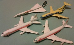 ZYLMEX DYNA-FLITES A104 CONCORDE, A105 747, A107 727 and A115 DC10 (NyamalaTone) Tags: vintage airplane toy collectible flugzeug jouet avion juguete