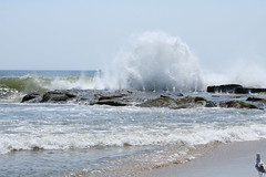 Waves crashing into rocks (acereporter73) Tags: beach shore oceangrove