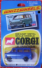Ford Transit (streamer020nl) Tags: auto greatbritain car metal toys corgi models card junior gb 1970 juniors collector diecast jouets speelgoed mettoy whizzwheels