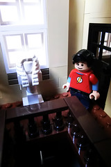 Wayne Manor 41 (Ptra) Tags: lego moc waynemanor batman batcave robin alfred manor mansion house statues hall minifigs