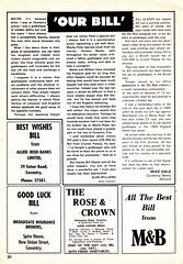 """Coventry City """"Sky Blues"""" vs England 1966 World Cup XI - Bill Glazier Testimonial - 1974 - Page 20 (The Sky Strikers) Tags: coventry city sky blues england 1966 world cup xi bill glazier testimonial our official souvenir programme highfield road 10p"""